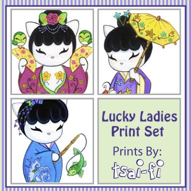 Lucky Ladies Print Set