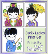 Lucky Ladies Print Set