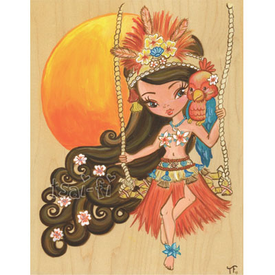 Luau Lulu Original Painting