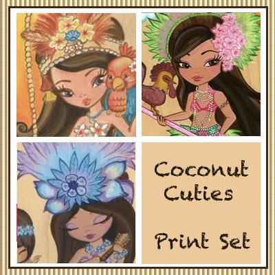 Coconut Cuties Print Set