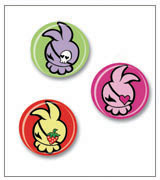 Dust Bunni Set of Pins
