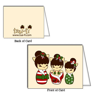 Katkeshi Christmas Card Set