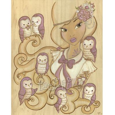 Owl Mistress 11 x 14 Print