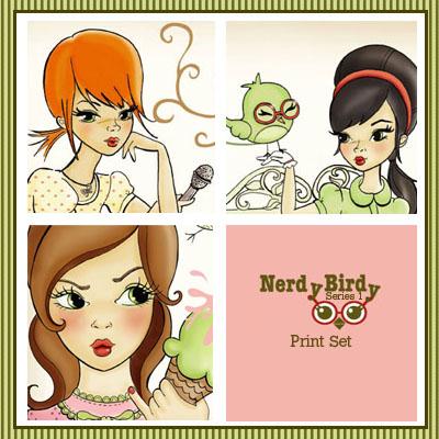 Nerdy Birdy Print Set Series1