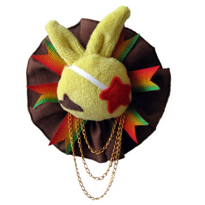 Dust Bunni Rasta Pin