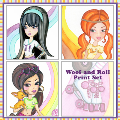 Woof and Roll Print Set