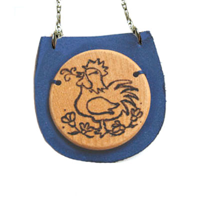 Year of the Rebel Rooster Necklace
